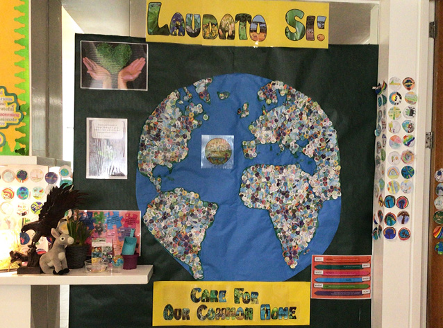 Junior School make their promise to be a Laudato Sí School